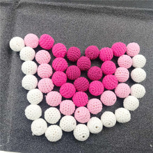 Baby Crochet Beads Can Chew Beads 20mm 10pcs DIY Teething Necklace Pacifier Chai