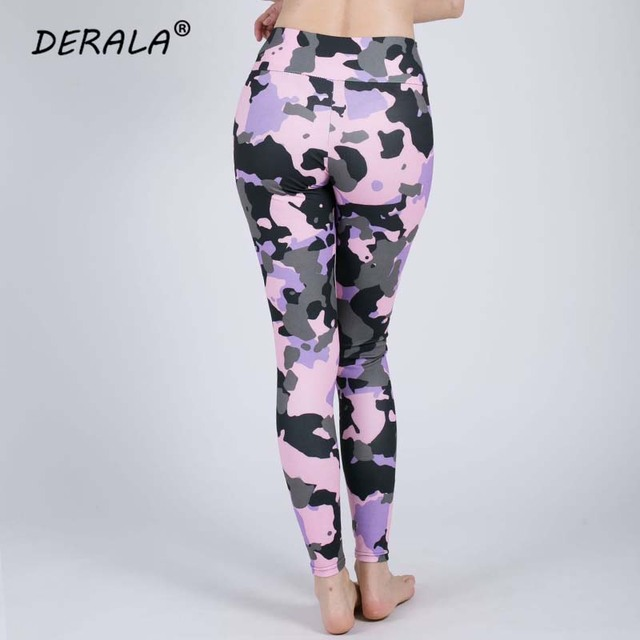 Women Stretchy Fitness Excercise Pink Camouflage Leggings Ladies Summer Digital Print Camo Leggings Workout Active Pants 4