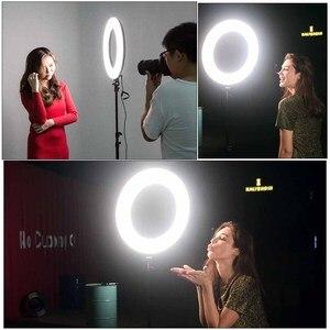 Image 5 - Viltrox VL 600T 18 אינץ דו צבע וידאו LED טבעת אור מנורת אלחוטי מרחוק + אור stand עבור תמונה ירי סטודיו YouTube חי