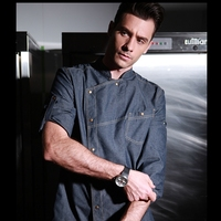 Fashion Hotel And Restaurant Kitchen Long Sleeve Denim Chef Jacket