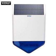 Kerui wireless outdoor solar syrena dla g18 g19 w2 8218g gsm systemy alarmowe bezpieczeństwa domu z migającym odpowiedź głośno dźwięk
