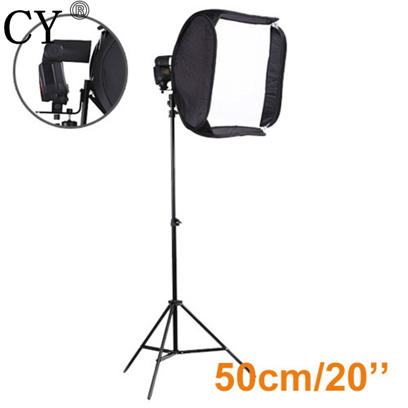 CY Pro High Quality Photography Studio Kits 20/50cm Easy Portable Softbox For Speedlite with Light Stand Photo Studio Set high quality foldable 70cm photo studio beauty dish speedlite octabox softbox inner sliver or diffuser