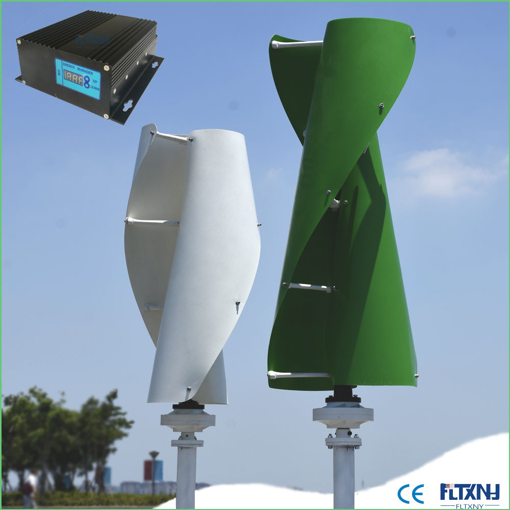 US $558 0 |High Quality Wind Generator 400w to 600w 48V Vertical axis Wind  Turbine with 600w 48V wind solar hybrid controller for home use-in