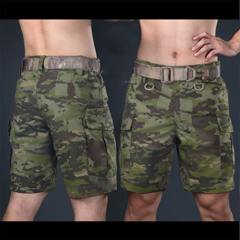 2016 Multicam military shorts Multicam Tropic Knee length short pants for trainning Camouflage ripstop shorts army