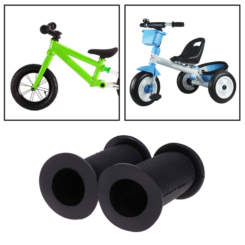 Fee Shipping 1Pair Bicycle Grips Children Bike Tricycle Scooter Non Slip Thread Rubber Handle For 22.2mm Handlebar