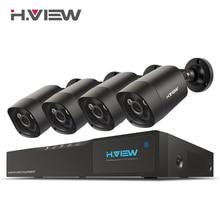 H View 4mp CCTV Surveillance Kit 4mp Security Camera System 4 ch DVR 1080P 2K Video