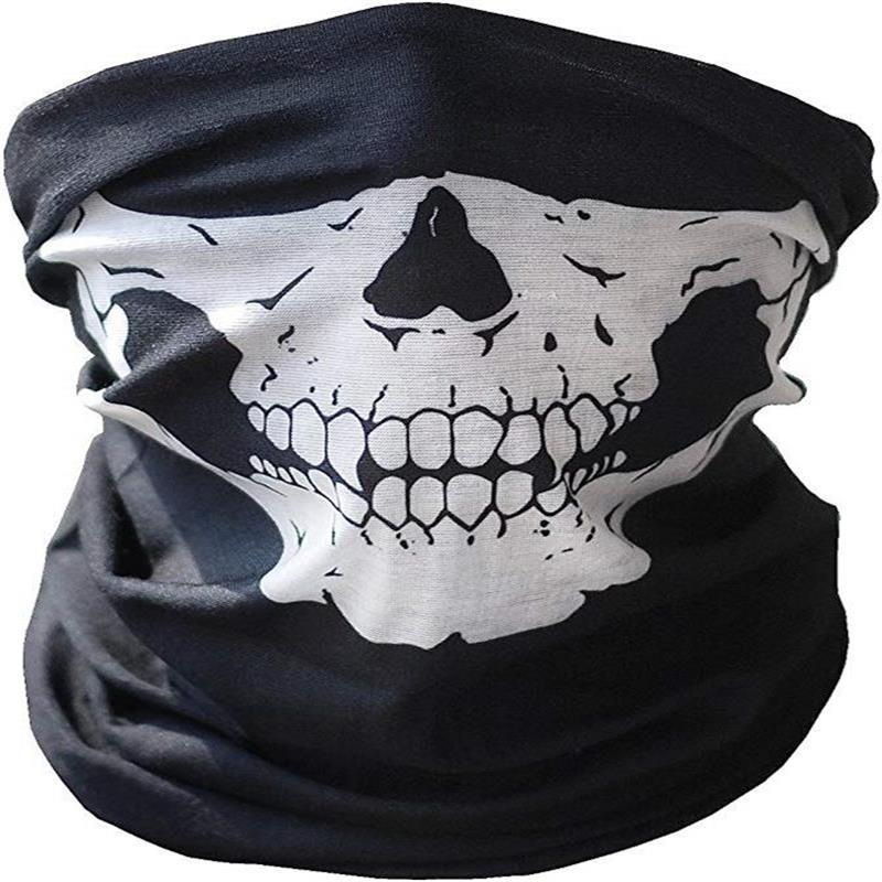 Skull Masks Bicycle Ski Half Face Mask Ghost Scarf Neck Warmer Multi Use Magic Cycling Face Shield Halloween Props RR7159