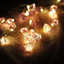 1,5 м 10 светодиодный теплый белый светодиодный свет шнура Рождественские события лампочки для праздника праздник