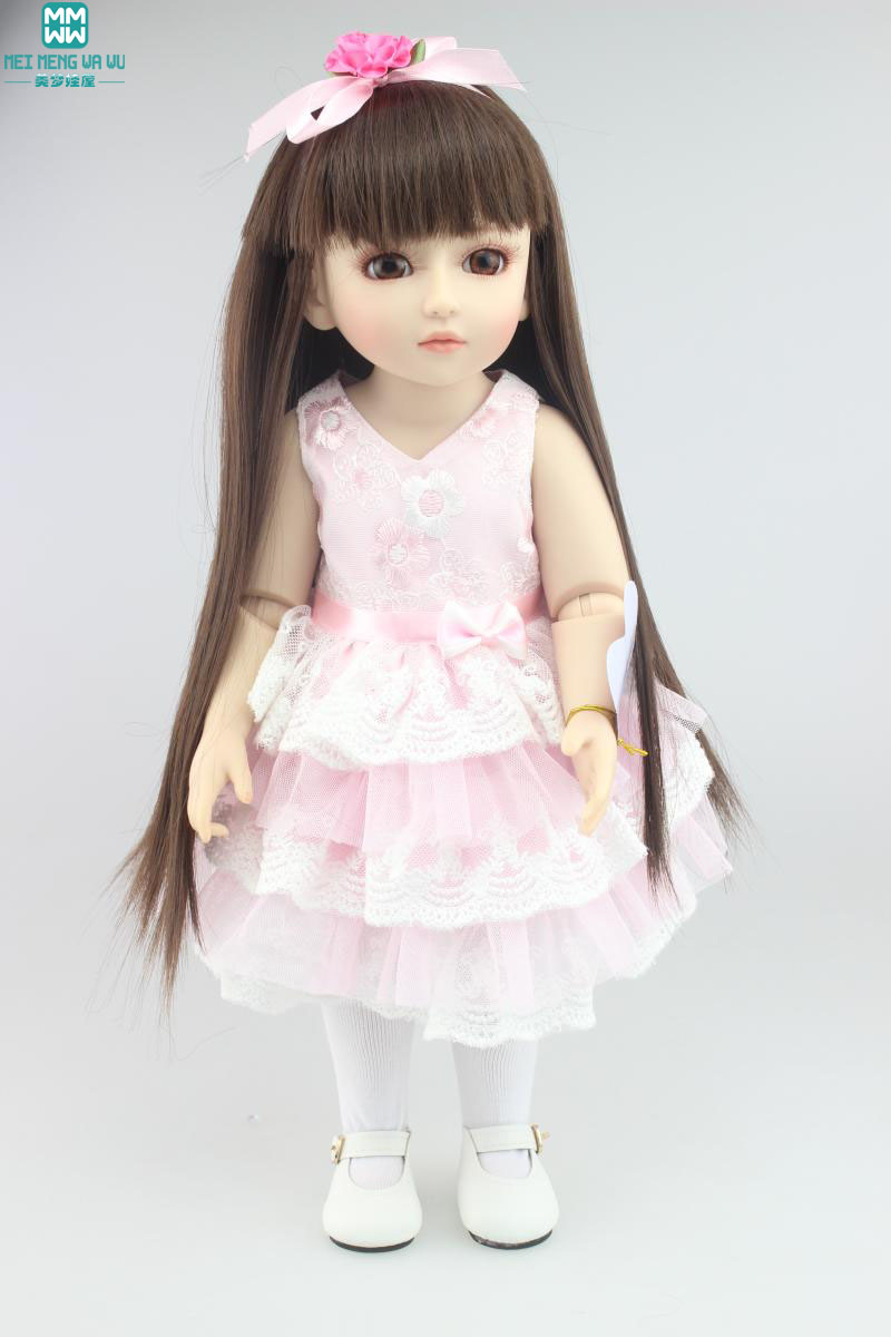 45cm high quality dolls/ baby SD / BJD emulation beautiful princess Jointed doll To hair styling Dress Up Doll high quality wedding dress doll 45cm 55cm beautiful elegant pink feather dhl or fedex page 3