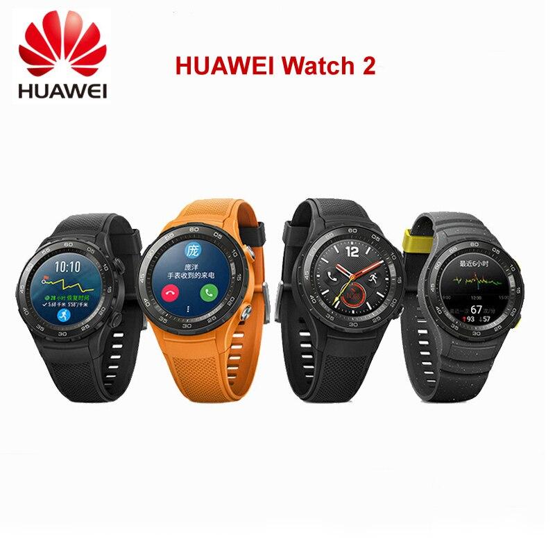 D'origine Mondial ROM montre huawei 2 montre connectée Coeur Taux Sommeil traqueur de remise en forme Pour Android iOS IP68 Étanche NFC GPS