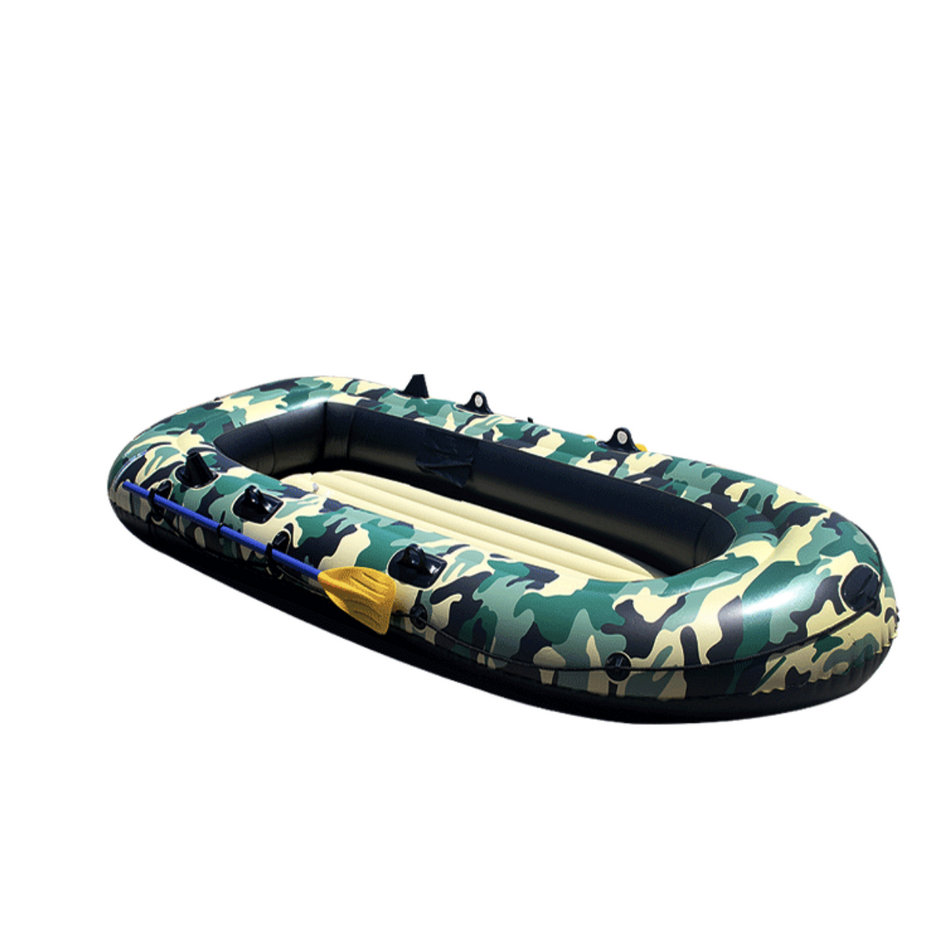 2 4 Person Thickening PVC Inflatable Boat Raft River Lake Dinghy Boat Pump Fishing Boat with Oars Set Load 200kg Kayaking