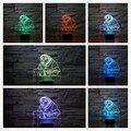 Nueva Zootopia Flash de Dibujos Animados perezoso Zootropolis Acrílico Gradiente de Colores la Luz de La Noche 3D Luz de Noche LED Lámparas de Iluminación Ambiente