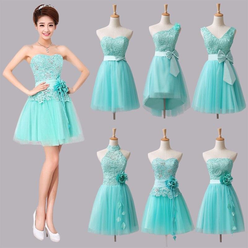 strapless prom dresses mint green short bridesmaid dresses 2015 vestido de festa plus size cheap ...