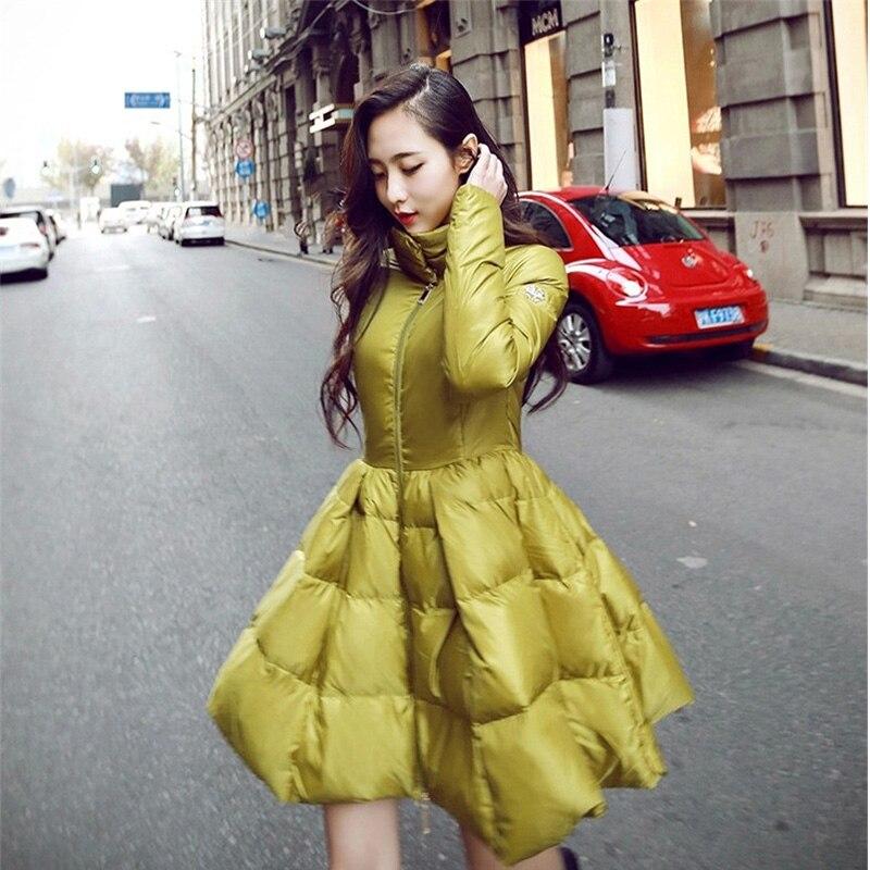 Cc089 Dans La Hiver Manteau S'agenouiller Cape Slim Veste Tops Pour black Mode Mince Olgitum Longue Section Femmes Yellow De D'hiver Grand Uw8Snq