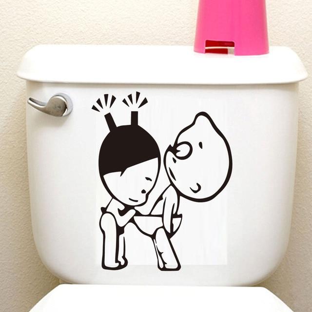 Dctop Cartoon Erwachsene Paar Lustige Wc Aufkleber Aufkleber Walll