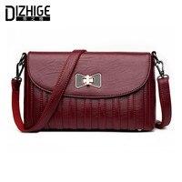 DIZHIGE Brand Fashion Bow Crossbody Bags Women Leather Handbags Lock Shoulder Bags Ladies High Quality Small