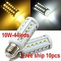 Free Shipping 10W 5050 SMD 44leds LED Corn Bulb Light E27 LED Lamp High Power Cool White | Warm White 220V 10pcs/lot