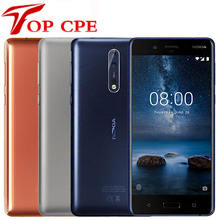 "Original Nokia 8 Global Version Smartphone 5.3"" Snapdragon 835 Otca core 4GB RAM 64GB ROM 13.0 MP Android 4G LTE Mobile phone"