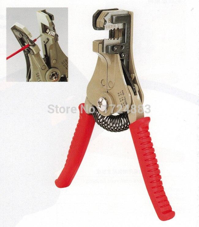 Werkzeuge Hs-700b Selbst-anpassung Isolierung Draht Stripper Automatische Abisolierzangen Strippen Bereich 0,5-6mm2 Mit Hohe Qualität Werkzeug Ausgezeichnet Im Kisseneffekt