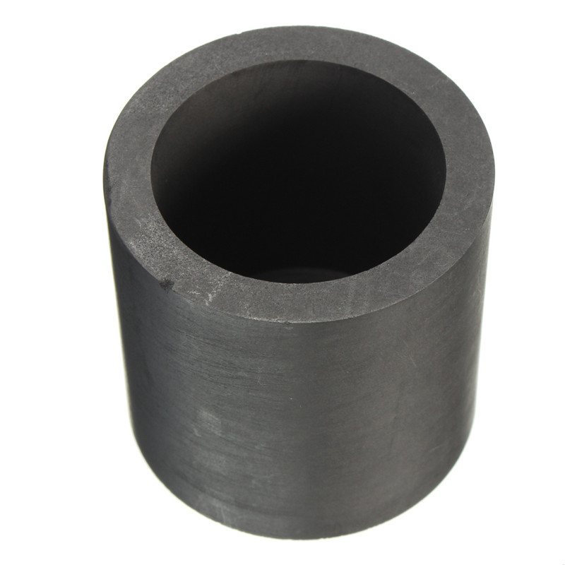 Pure Graphite Crucible Cup Propane Torch Melting Gold Silver Copper Metal 40x40mm dia75x h80mm high pure melting graphite crucible for melting metal