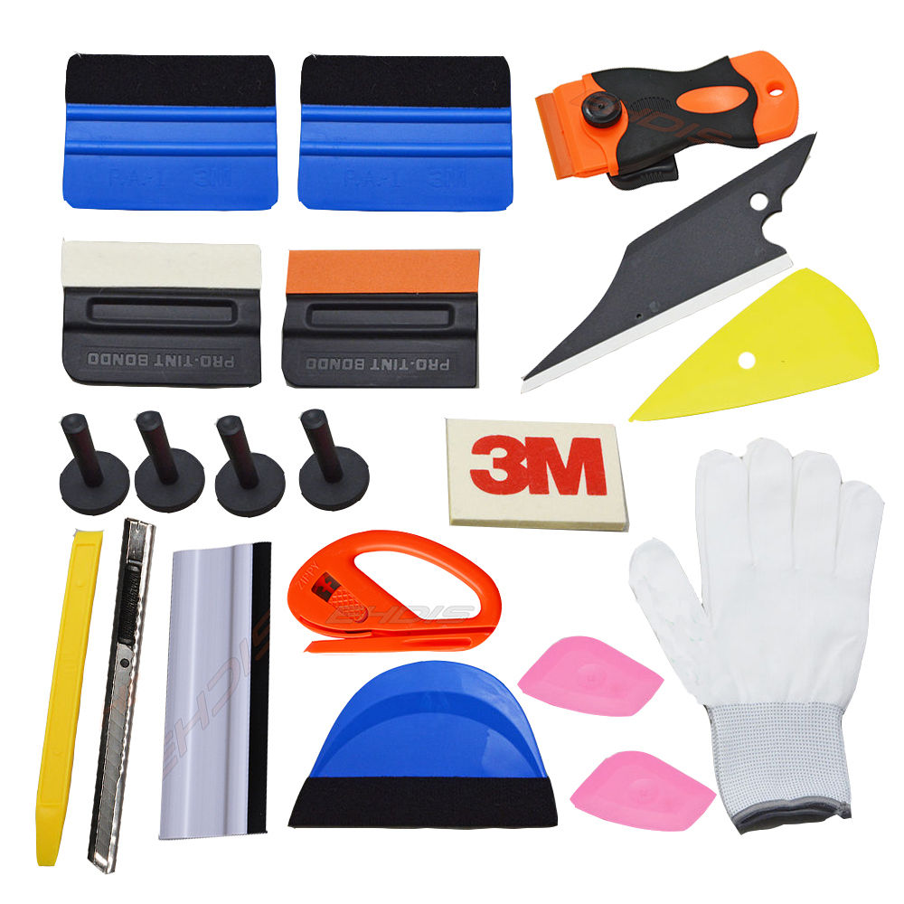 auto car window tint tools kit decals wrap application squeegee 21pcs auto car window decals