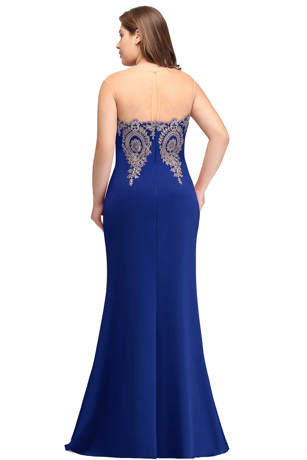bac09ab5e56 ... Royal blue 2019 Mother Of The Bride Dresses Plus Size Mermaid  Sleeveless Satin Long Groom Mother ...