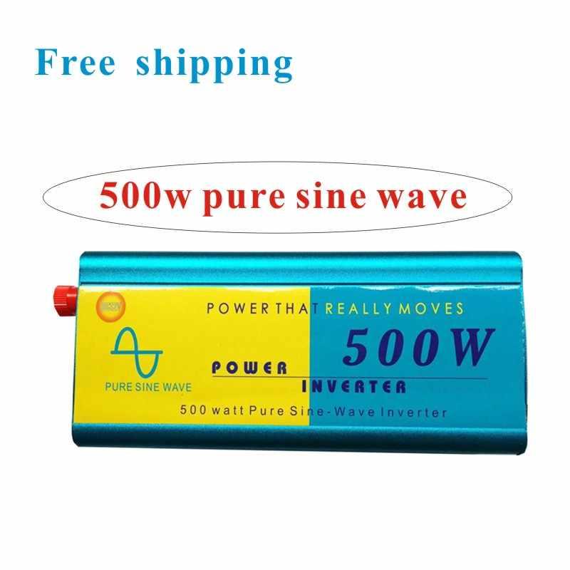 Inversor 24 v 220 v 500 W inversor de onda sinusoidal pura entrada 24 v salida 220 v inversor de corriente venta caliente envío gratis