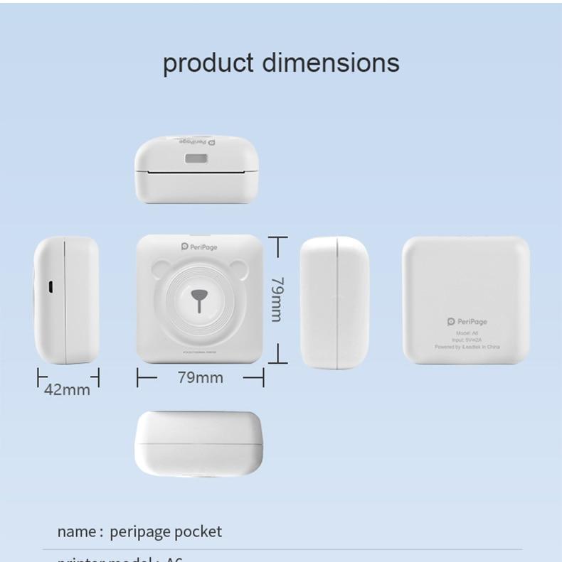 HTB1awrzcv1H3KVjSZFHq6zKppXaB - PeriPage A6 mini imprimante mobile