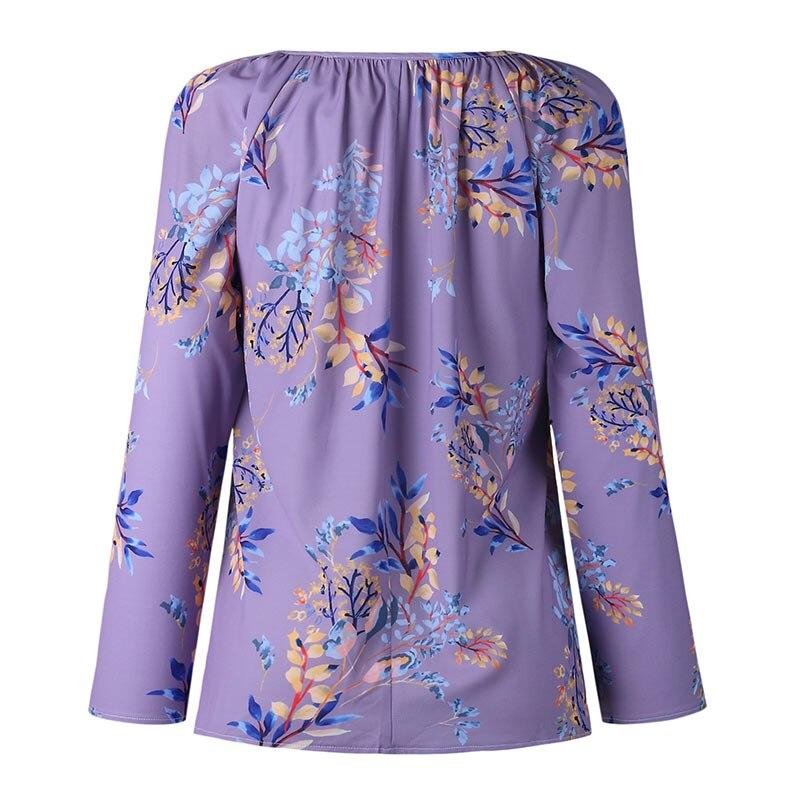 Autumn Casual Shirt Women Clothes Streetwear Fashion Print Drawstring V-Neck Long Sleeve Sexy Ladies Tops Vetement Femme 2018 (17)