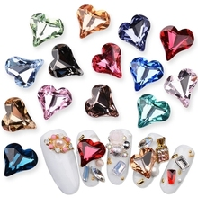 Get more info on the Blingbling Glass Heart 10pcs/Lot 8*9mm Stone Nail Charms 3D Jewelry Diamond Nail Art Cellphone Charm Decoration Rhinestones