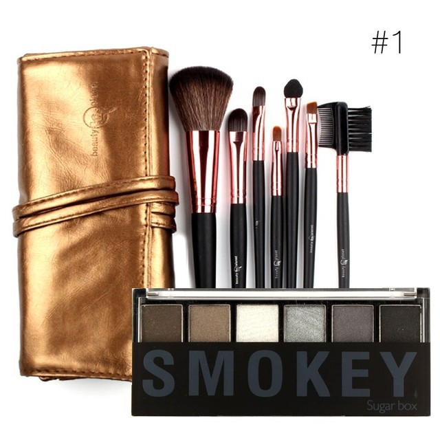 Six-color eye shadow beauty makeup  Pearly bare makeup Waterproof / Water-Resistant long lasting Dimensional makeup set