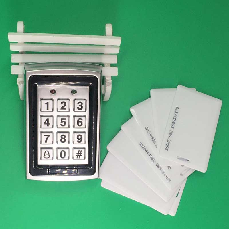 Brand New RFID Keypad Metal Door Access Control System +10 Piece 125khz Card