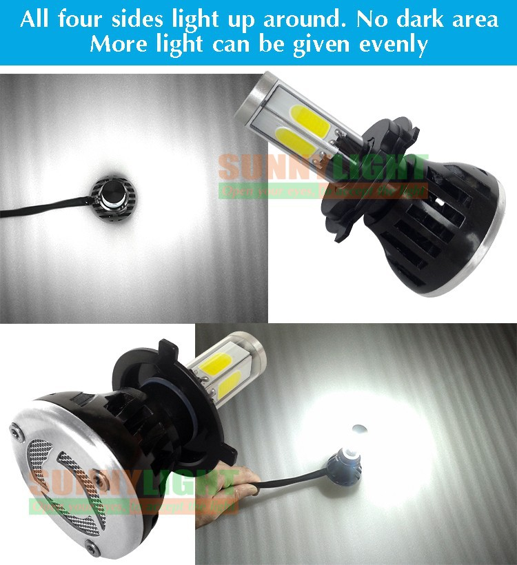 14- H4 hi lo high low led headlight high power 40W motorcycle moto bike headlamp