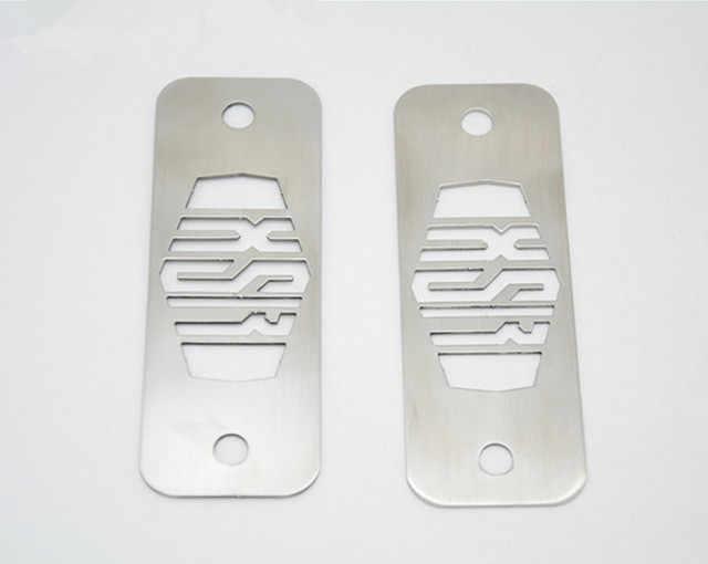 1 pares recubierto de polvo de acero inoxidable caja de fusibles placas 1 par para Yamaha XSR de plata 900 XSR900