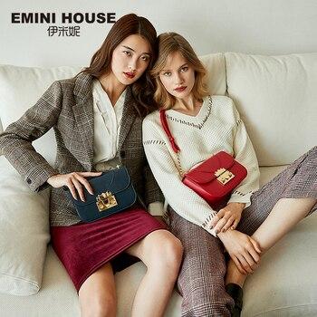 EMINI HOUSE Indian Series Chain Bag Split Leather Crossbody Bags For Women Shoulder Bag Luxury Handbags Women Bags Designer Shoulder Bags