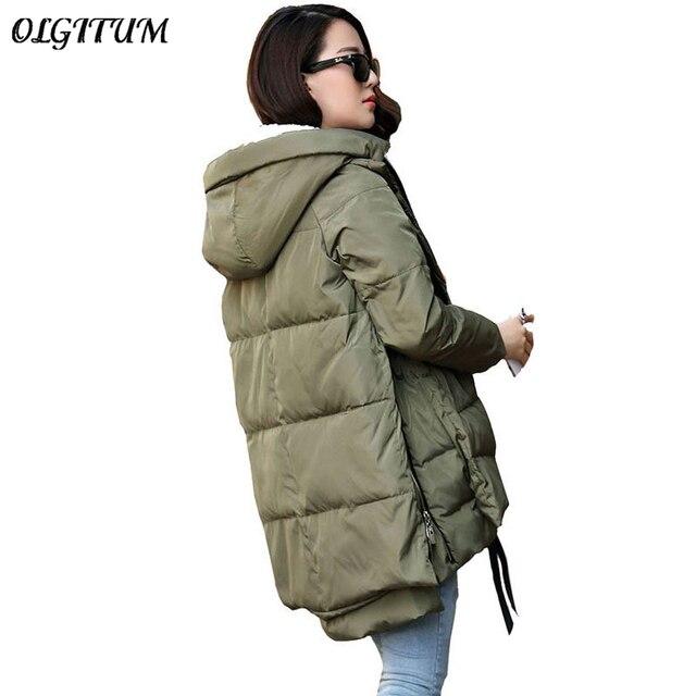 무료 배송 2018 새로운 Aarrivals Fashional 여성 재킷 후드 긴 스타일의 따뜻한 겨울 코트 여성 플러스 사이즈 M ~ 5XL