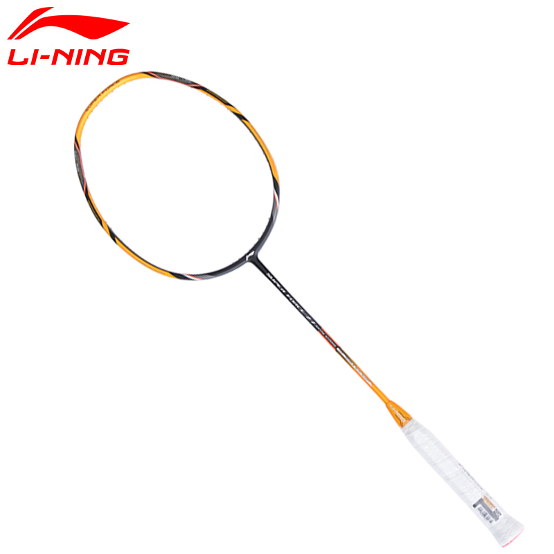 Li Ning Badminton Rackets Li-Ning Super Force 27 Single Racket Carbon Fiber High Tensile Slim Racquets LiNing Rackets AYPM222 professional offensive full carbon fiber badminton single racket super light 5u racquets with stringing and gift box q1256cmc