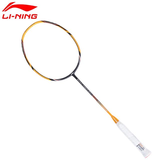 Li Ning Badminton Rackets Li-Ning Super Force 27 Single Racket Carbon Fiber High Tensile Slim Racquets LiNing Rackets AYPM222