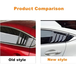 Image 5 - For Mazda 6 ATENZA 2014 2015 2016 2017 2018 Carbon Fiber ABS Rear Window Hanlde triangle Bowl Cover Car Styling Accessories 2pcs