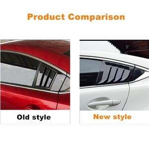 Image 5 - Para Mazda 6 ATENZA 2014, 2015, 2016, 2017, 2018 de fibra de carbono ABS ventana trasera Hanlde triángulo cubierta de cuenco accesorios de estilo de coche 2 uds