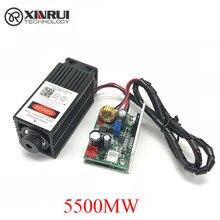 5,5 w high power 445NM mit schwerpunkt blau laser modul laser gravur und schneiden TTL modul 5500mw laser rohr + brille