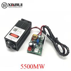 5.5w haute puissance 445NM focalisation module laser bleu gravure laser et découpe module TTL 5500mw tube laser + lunettes