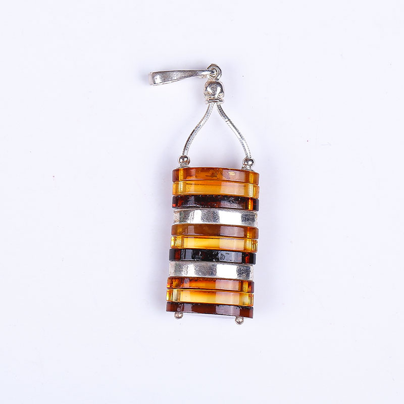 JIUDUO Pure natural amber beeswax Pendant fashion pretty 100% 925 sterling silver factory outlet special factory outlet CH09 jiuduo fashion natural baltic amber beeswax female necklace pendant 925 silver design factory direct special package mail