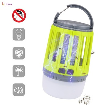 2 в 1 USB Перезаряжаемый светодиодный светильник от комаров Высокий/низкий светильник 360-400NM УФ-светильник от комаров для спальни, сада, кемпин...