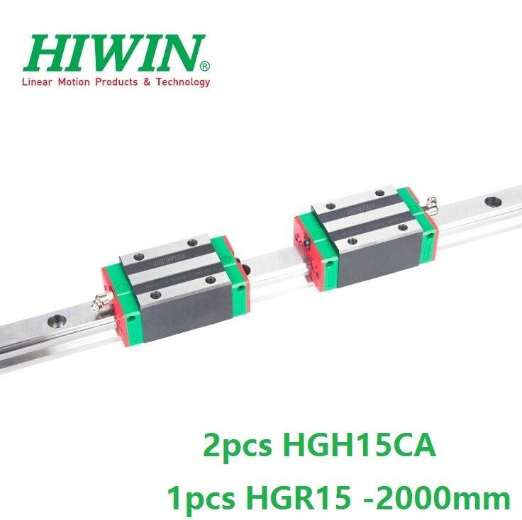 1pcs 100% original Hiwin linear rail HGR15 -L 2000mm + 2pcs HGH15CA linear narrow sliding block for cnc router1pcs 100% original Hiwin linear rail HGR15 -L 2000mm + 2pcs HGH15CA linear narrow sliding block for cnc router