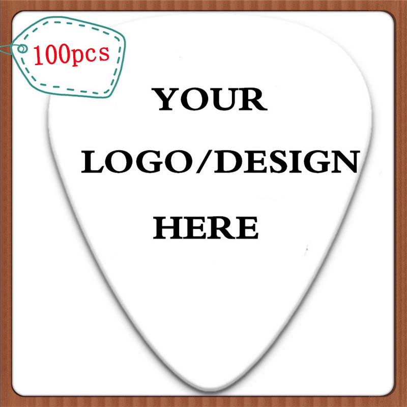 100pcs Personalized Custom Celluloid Guitar Picks Make Your Own Logo And Design Double Side Printing With Free Shipping