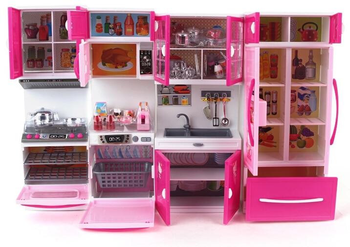 Kawaii Hello Kitty Girl Kids Multifunctional Kitchen Toys Set