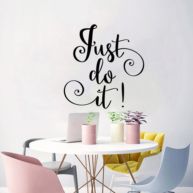 Just Do It Word Decal Vinyl Decor Wall Art Sticker For Living Room Study Office