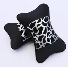 Car seat head cushion headrest leopard print car neck  four seasons general bamboo charcoal