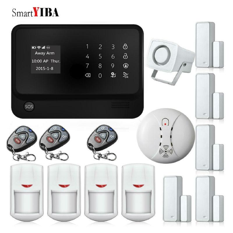 SmartYIBA G90B Plus GSM/WiFi/GPRS Alarme de Sécurité Kits APP Contrôle IOS Android WIFI Intruder Cambrioleur Alarmes Porte alarme de mouvement